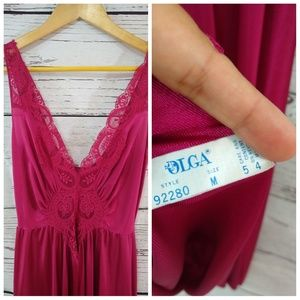Vintage Intimates   Sleepwear - Vintage Olga nightgown slip dark red 07ba0284c